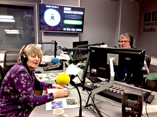 Joy Hanson at Radio Devon